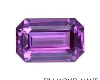 A Beautiful NaturalSapphire 1.16 Purple Emerald Cut Extra
