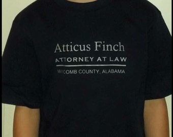 Atticus Finch Attorney at Law Iron on Appliqué shirt not included