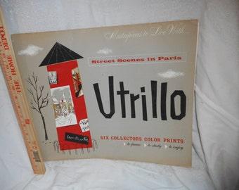 6 Maurice Utrillo Art Prints Vintage Mid Century French Artist