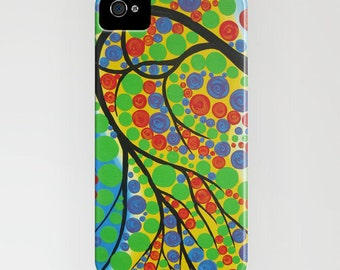 iphone case,  phone case,  phone cover, iphone 6 phone cover,  bubble tree phone case, green phone case,  5s case, 4S cover, ipod cover,