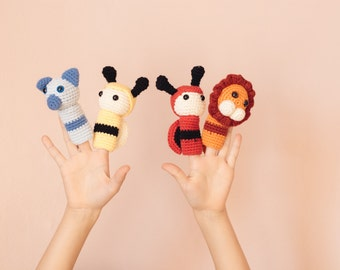 Organic cotton finger puppet set