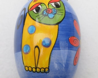 20% OFF !! MILSON & LOUIS Hand Painted  Whimsical Magnetic Small Vase