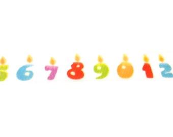 Birthday Candle Washi Tape, Washi Tape, Birthday Washi, Birthday, Planner Washi, Planner Tape, Scrapbook Supplies