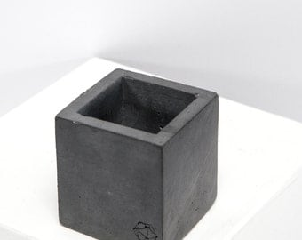 Concrete Geometric Original mini cube dark