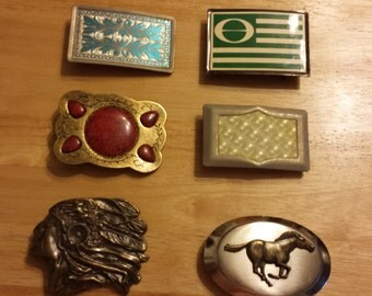 Vintage Collector Buckles, Ships Free