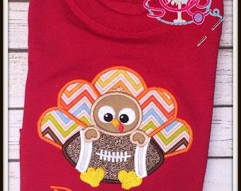 Personalized Football Turkey Shirt/Bodysuit