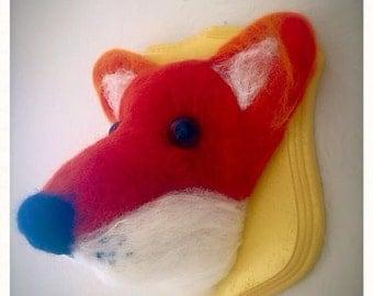 Needle Felted taxidermy fox head