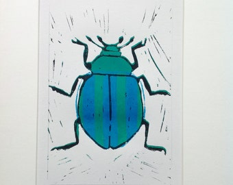 Turquoise striped beetle.