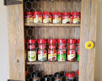 Armoire pices armoire rustique campagne avec grillage - Armoire avec grillage poule ...