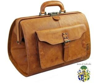 Doctors bag ROOSEVELT brown Rodeo-leather