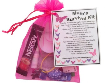 Mum Survival Kit - Great Birthday Gift, Mothers Day Gift. Mother Gift for Mum gift for mother - Free UK Shipping