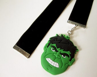 Black Velvet Bookmark w/Hulk charm