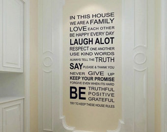 Sale 20% OFF Home wall decal - words Wall Decal - words sticker - words decor - home sticker - Vinyl Wall Stickers Art Graphics 161