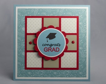 Stampin Up Handmade Greeting Card: High School Graduation Card, Graduate, College, Class of 2017 You Did It Congratulations Son Daughter