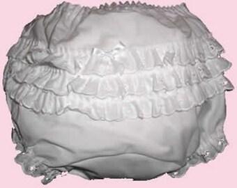 Sz 2 Ecru Rhumba Diaper Cover