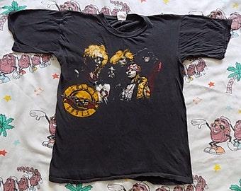 Vintage 80's Guns N' Roses Appetite For Destruction concert T shirt, size Small