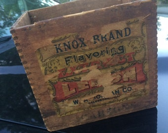 Vintage Knox Brand Flavoring, USA, Great Shape, Extra Colorful