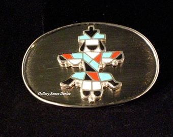 Zuni Style Belt Buckle Native American Southwestern Style Belt Buckle Mens Belt Buckle Womens Belt Buckle