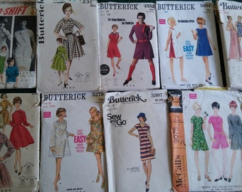Vintage Butterick and McCall's Patterns from the 1960s and 1970s
