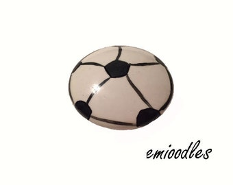 Custom Hand Painted Soccer Drawer Pulls Knobs