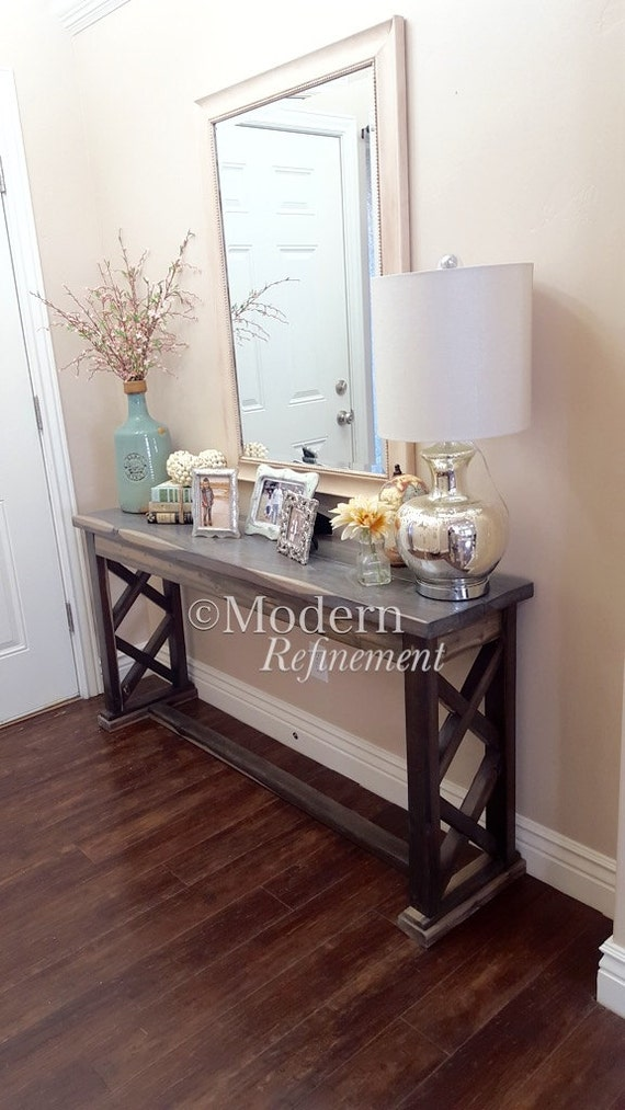 Farmhouse Foyer Mirror : Rustic farmhouse entryway table sofa buffet