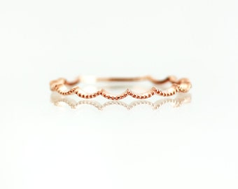 Crown Delicate Gold Ring, Gold Ring, Gold Ring 14k, Solid Gold Ring, Ring Gold, Thin Gold Ring, Gold Rings for Women, Wave Gold Ring Simple