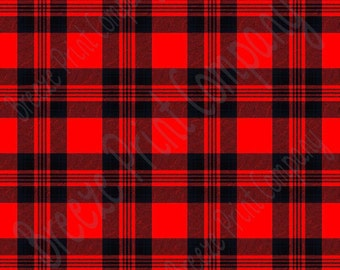 Red and black tartan plaid craft  vinyl sheet - HTV or Adhesive Vinyl -  Valentine's Day HTV1818