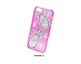 Pineapples Piñas Pinha Malibu Summer Fresh Flamingo Beach Playa Hot Barbie Transparente Case Funda Iphone Samsung Galaxy Motorola