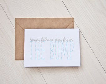 Happy Fathers Day From the Bump - Fathers Day Card - Fathers Day - Dad to be - Dad to be card