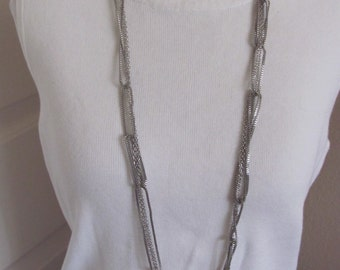 "Beautiful Silver Chain Extra Long 36"" Inch Necklace  (42F)"