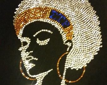 Afro Lady-Sigma Rho