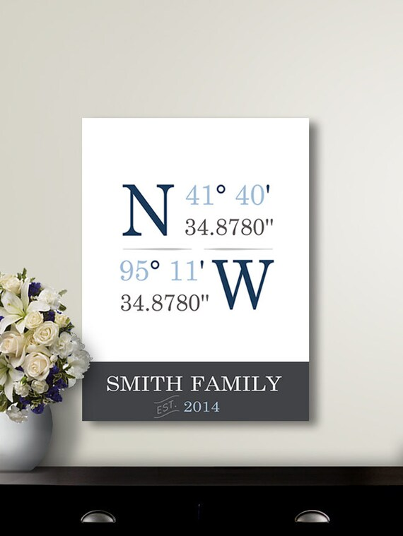 Day Gift / Gifts for Parents / Custom Coordinates / newlywed gift ...