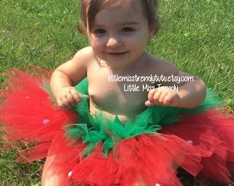 Strawberry Tutu Skirt, Strawberry Tutu Costume, Strawberry Cake Smash Tutu, Strawberry Costume, Strawberry Halloween Costume