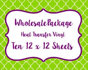Wholesale Package for Printed Vinyl, Patterned Craft Vinyl and Heat Transfer Vinyl // Any Patterns in our Shop!!