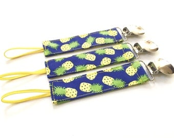 Pacifier Clip - Summer Pineapple