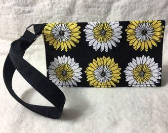 Daisy Cell Phone Holder/Wallet Wristlet