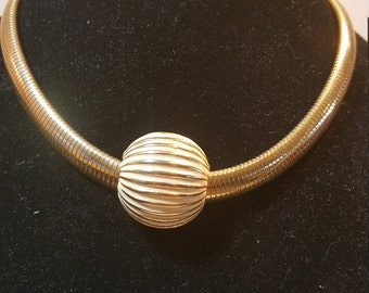 FREE  SHIPPING   Snake Gold Coil Necklace