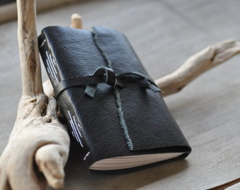 Handmade rustic leather journal