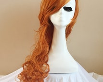 Long Ginger Red Wig Curly Hair Cosplay Wig