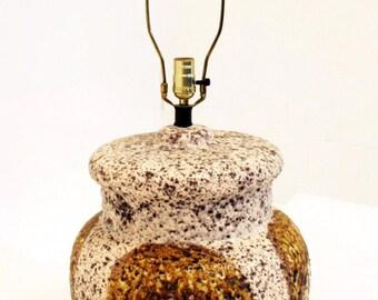 Mid Century Modern Large Ceramic Volcanic Lava Drip Glaze Table Lamp