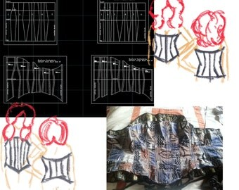 Digital Corset Pattern with How-to Tutorial. Size 8-26 Available.