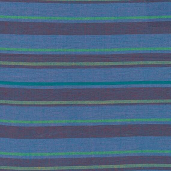 ALTERNATING STRIPE  BLUE Woven walterx.bluex Kaffe Fassett fabric sold in 1/2 yard increments