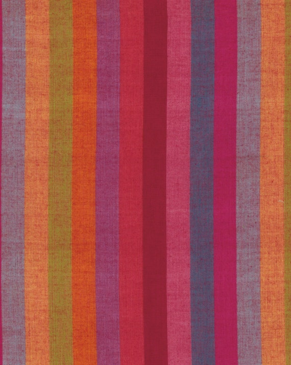 BROAD STRIPE Woven  WATERMELON wbroad.water by Kaffe Fassett fabric sold in 1/2 yard increments