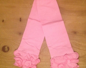 Pink ruffle legwarmers