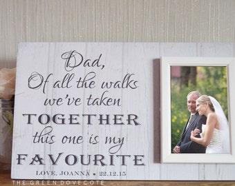 Personalized Picture Frame - Parents Of The Bride Gift - Custom Wedding Gift - Father Of The Bride Gift - Wedding Gift For Parents