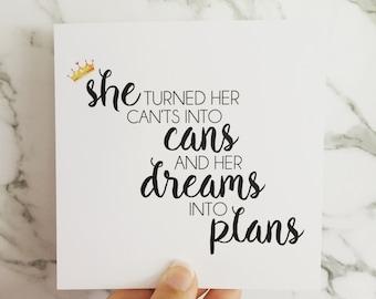 Dreams Into Plans Card
