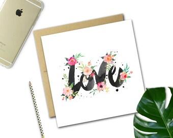 Love Floral Card