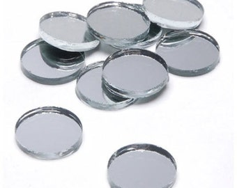 """Round 3/4"""" Mirror Can Be Used in Many Craft Projects & Mosaics. - FREE SHIPPING!"""