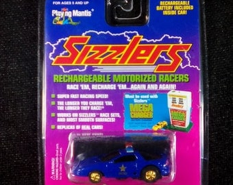Vintage 1996 Playing Mantis Sizzlers Rechargeable Racer, Camaro Highway Patrol, Sealed, Sizzlers Racer, Sizzlers Race Car, Vintage Sizzlers