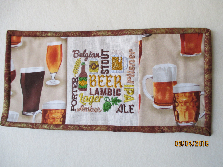 Mug Rug Drink Beer Reversible Home Decor Candle Mat